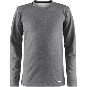 Craft Essential Round-Neck LS Shirt Kids dk grey melange